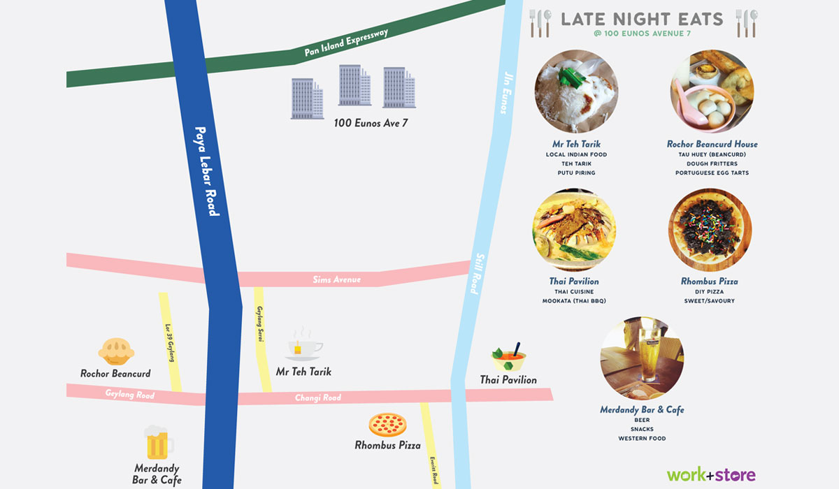 Late Night Eats at 100 Eunos Avenue